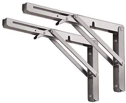 Amazon Com Yumore Folding Shelf Bracket Heavy Duty Stainless Steel Collapsible Shelf Bracket For Tab Folding Shelf Bracket Collapsible Shelves Shelf Brackets