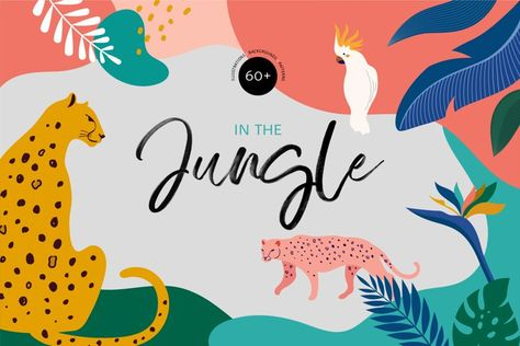 In the Jungle - the wild collection (239129)   Illustrations   Design Bundles