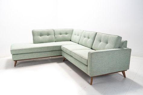 Mid Century Danish Modern Sectional Chaise Sofa Modern Sofa