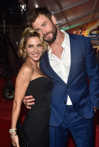 Elsa Pataky and actor Chris Hemsworth attend the World Premiere of Marvel Studios' 'Thor: Ragnarok.'