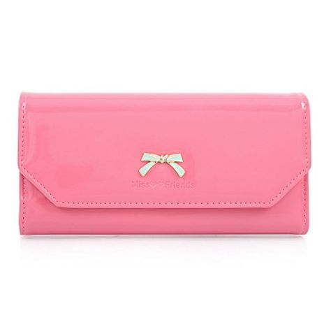 Candy Colour Plain Women Ladies Small Purse Clutch Lots Compartment Boxed Gift