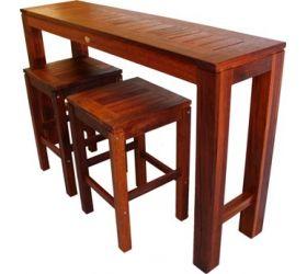 OUTDOOR FURNITURE Long Narrow Kwila Timber Bar Setting | Daydream Leisure  Furnitureu0027s Outdoor Furniture Collection | Pinterest | Bar, Small Space  Furniture ...