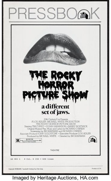 Movie Posters Rock And Roll The Rocky Horror Picture Show 20th Century Fox 1975 Rocky Horror Picture Show Rocky Horror Picture Rocky Horror