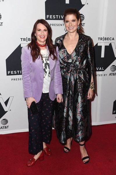 Megan Mullally and Debra Messing attend the Tribeca TV Festival exclusive celebration for 'Will & Grace' in NYC.