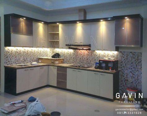 hasil pembuatan kitchen set minimalis di kemanggisan