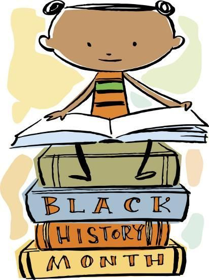 Book Reading Atop Books During Black History Month
