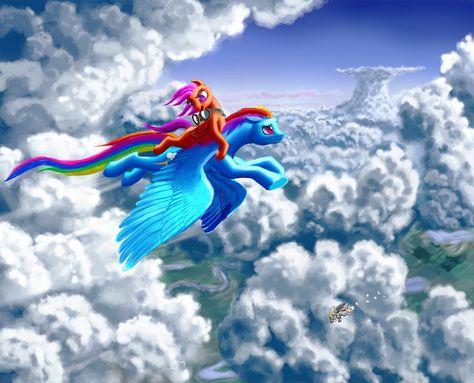 Like a big sister by PrincessSilverGlow.deviantart.com on