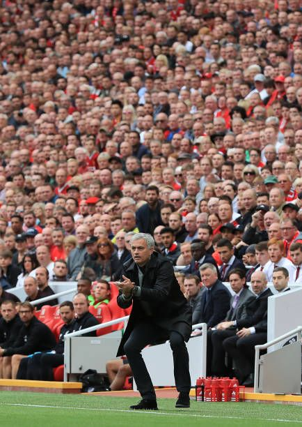 Manchester United Manager Jose Mourinho During The Premier League Match At Anfield Liverpool Liverpool Vs Manchester United Manchester United Manchester