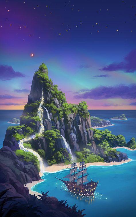 Peter Pan by Andreas Rocha Film Disney, Disney Art, Disney Pixar, Disney Phone Wallpaper, Cartoon Wallpaper, Disney Phone Backgrounds, Animes Wallpapers, Cute Wallpapers, Disney Love