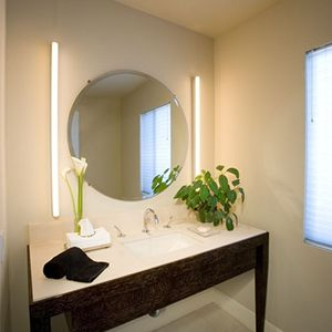Soft Strip Completes The Look Of This Bathroom Lighting