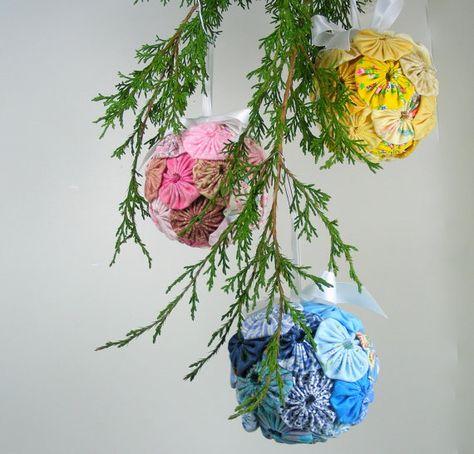 YoYo Ornaments Christmas Balls YoYos Christmas Decor