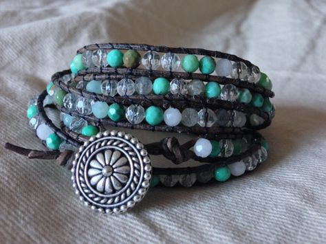 Wrap Bracelet with SemiPrecious Beads by ElizabethPeridot on Etsy, $70.00