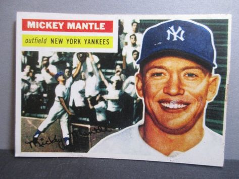 Highest Quality Mickey Mantle 1956 Topps Reprint Baseball Card Mickey Mantle Mantle Cards
