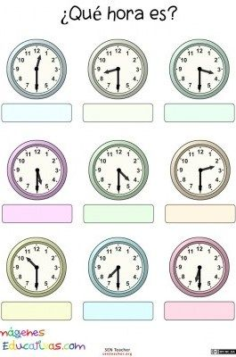 Trabaja Las Horas Y Los Relojes 10 Aprender La Hora Actividades Del Reloj Reloj Para Niños