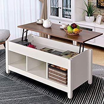 Amazoncom Bonnlo Lift Top Coffee Table With Storage Shelf