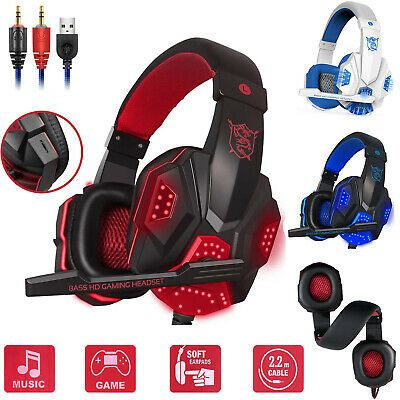 Wired Gaming Headset Stereo Mic Headphones Surround For Pc Xbox One Ps4 Nintendo Gaming Headset Headsets Headphones For Ps4