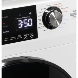 Ge 2 4 Cu Ft White High Efficiency 120 Volt Ventless Electric All In One Washer Dryer Combo Gfq14essnww The Home Depot In 2020 Washer Dryer Combo Washer And Dryer Fabric Softener Dispenser