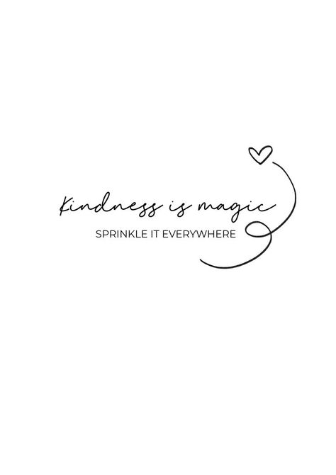 kindness is magic sprinkle it everywhere quote | Free printable wall art home decor quote black and white minimalistic | Free printable quote