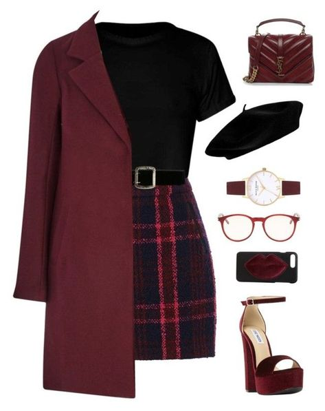 burgundy and plaid