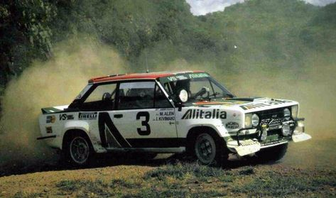 Markku Alen Ilkka Kivimaki 27th Safari Rally 1979 Fiat 131