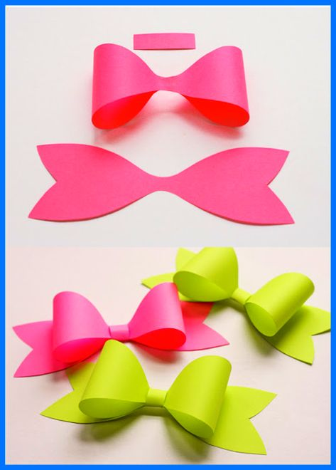 How to make origami bow diy 3d paper easy tutorial step by step ... | 660x473