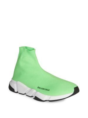 new products detailing good texture BALENCIAGA Neon Speed Trainer Sneakers. #balenciaga #shoes ...