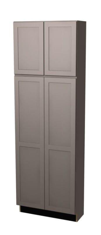 Build Essentials Prt Mp S St All C U3090b 30 Inch Wide Shaker Door Left Right Gray Paint Cabinets Tall Pantry Tall Pantry Cabinet Pantry Cabinet Shaker Doors