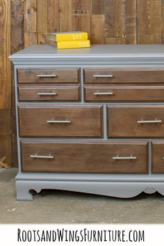 A Perfect Gray Dresser Makeover With A New General Finishes Milk