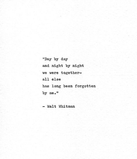 Walt Whitman Hand Typed Quote 'We Were Together' | Etsy