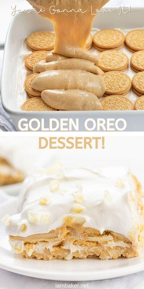 Sweet Desserts, Easy Desserts, Sweet Recipes, Delicious Desserts, Cake Recipes, Oreo Desserts, Desserts For Birthdays, No Bake Recipes, Layered Desserts