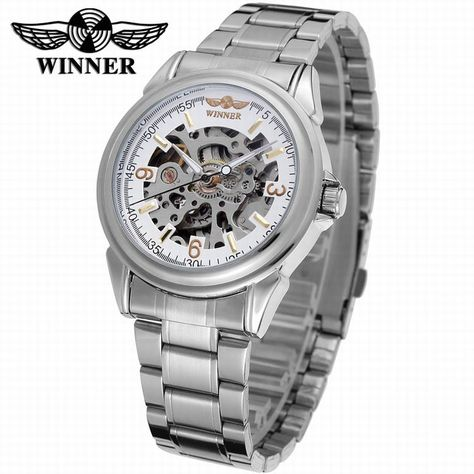 2016 T-winner uomo orologio in acciaio inox skeleton automatic meccanico watches for mens-Forsining Watch Company Limited www.forsining.com