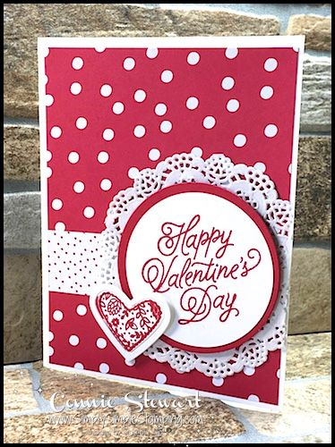 Klompen Stampers (Stampin' Up! Demonstrator Jackie Bolhuis): New Sketch + 2 Fun Ideas Homemade Valentine Cards, Valentines Day Cards Handmade, Valentine Ideas, Valentine's Cards For Kids, Card Patterns, Cool Cards, Creative Cards, Anniversary Cards, Wedding Cards