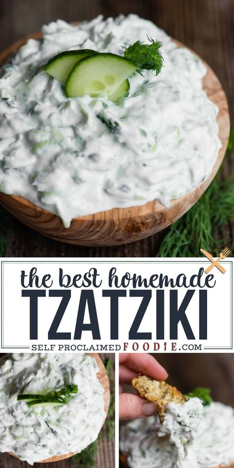 Tzatziki sauce can either be boring and bland or it can be flavorful and delicious. This recipe is so easy to make and tastes incredible! Greek Recipes, New Recipes, Vegetarian Recipes, Cooking Recipes, Healthy Recipes, Favorite Recipes, Healthy Dips, Healthy Choices, Yummy Recipes