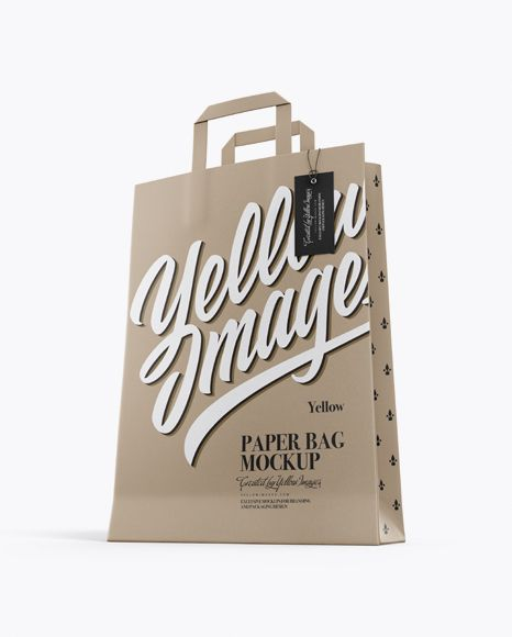 Download Kraft Bag W Label Mockup Half Side View In Bag Sack Mockups On Yellow Images Object Mockups Mockup Free Psd Kraft Bag Free Psd Mockups Templates