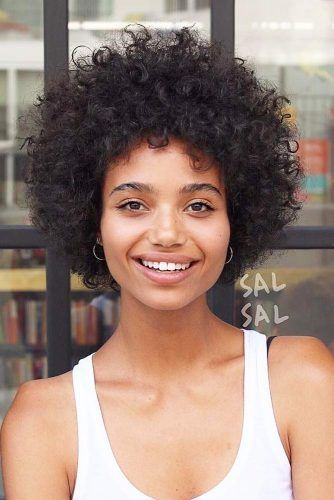 45 Fancy Ideas To Style Short Curly Hair Lovehairstyles Com Curly Hair Styles Naturally Curly Hair Styles Afro Hairstyles