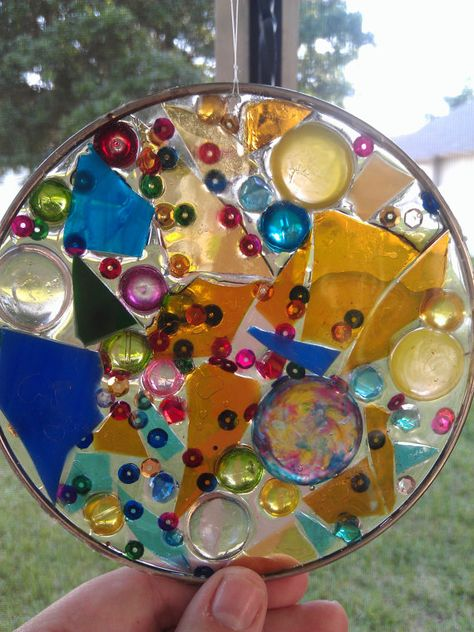 stained glass epoxy resin sun catcher mosaic  by ShannonBrennanetc