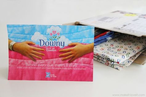 Service Learning..........Downy will send you the supplies and you make a quilt for a kid in the hospital.