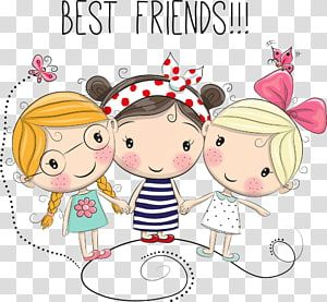 Cartoon Drawing Illustration Handle Girl Best Friends Transparent Background Png Clipart Cartoon Drawings Girl Cartoon Characters Rabbit Cartoon Drawing