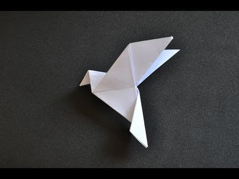 Learn here how to make a dove of peace like this. Do yourself using a square paper size you want. Help with the release of this video, just click the LIKE an...