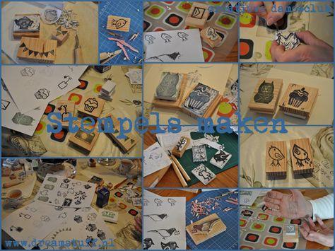 Dreamstuff: Stempels maken - Carving stamps