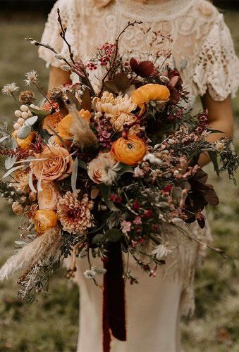 Bohemian Wedding Bouquets That Are Totally Chic ★ bohemian wedding bouquets dark bouquet kelsielowphotography