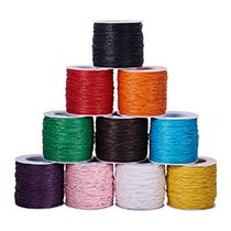 Knotds Making. PandaHall 1mm 100 Yard//Roll Gold Color Waxed Cotton Thread Cords for Jewellery Making