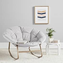 Gray Velvet Hang A Round Rocking Chair Comfy Rocking Chair