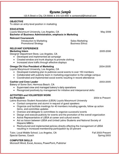 college student resume relevant coursework There is also another why including relevant coursework is important - keywords most employers use ats systems which automatically screen resumes to determine if the candidate is a good match it does this be screening the resume for keywords that might be relevant to the position.