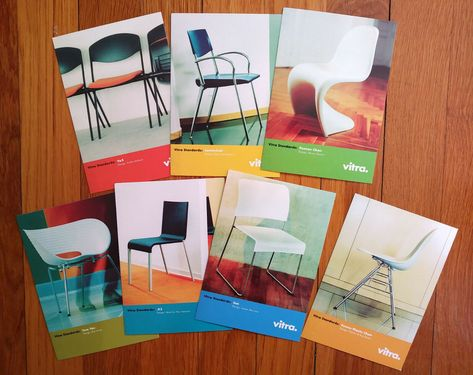 Vitra Classics Postcard Collection Includes An Eames Chair Postcard Collection Modern Graphic Design Vitra