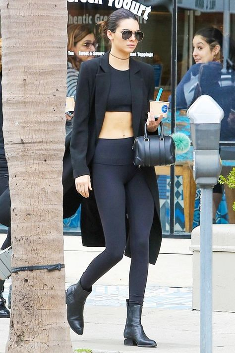 Kendall Jenner Pays Tribute to David Bowie: Photo Kendall Jenner dons a skin tight beige dress while grabbing lunch at Blu Jam Cafe on Monday afternoon (January in Sherman Oaks, Calif. The model…