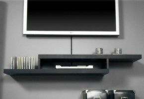 Sign Up To See The Rest Of What S Here All White Floating Tv Wall