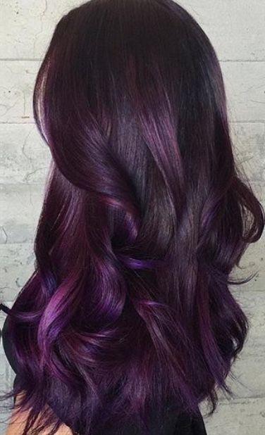 Deep Purple Burgundy Hair Color Shade Hair Styles Hair Color Burgundy Hair Color Purple