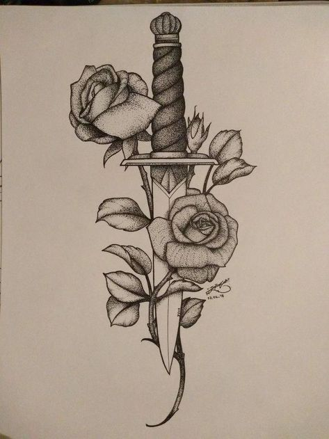 Messer Rose | Tattoo-Idee #Samoantattoos #wristtat... - #Messer #Rose #Samoantat... - #Messer #Rose #Samoantat #Samoantattoos #TattooIdee #wristtat
