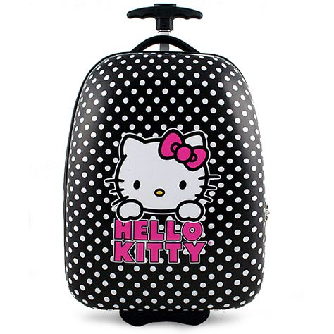 6d41796a40d Hello Kitty Hardshell Rolling Luggage Case  Black    Evil Feline ...